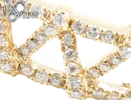 YG Zig Zag Bracelet Diamond