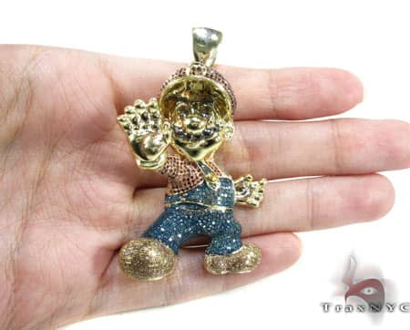 Custom Jewelry - YG Super Mario Pendant 16624 Metal