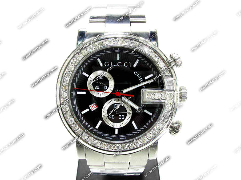 diamond gucci watch mens gucci white stainless steel