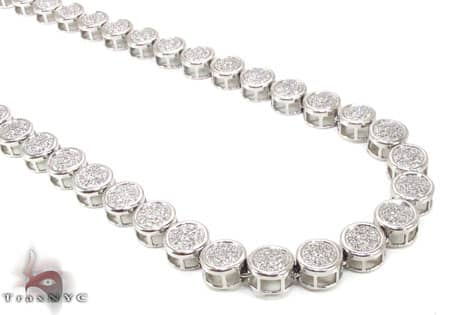 Micropave Diamond Chain 32 Inches 8mm 68.30 Grams Diamond