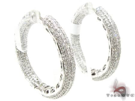 WG Fiji Hoop Earrings 2 Stone