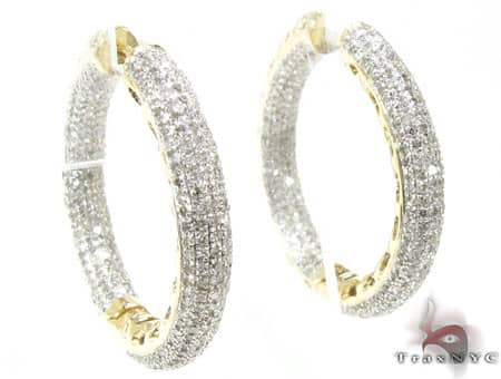 YG Fiji Hoop Earrings 2 Stone