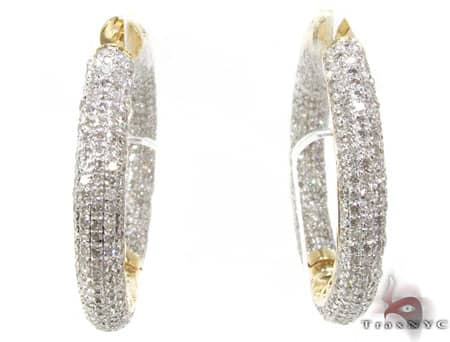 YG Fiji Hoop Earrings 2 Stone