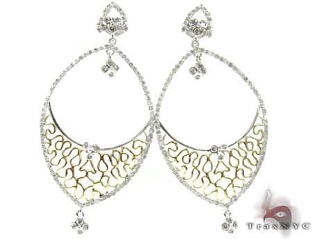 Two Tone Geisha Earrings Stone