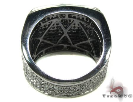 Mens Black Diamond All Around Wedding Ring Stone