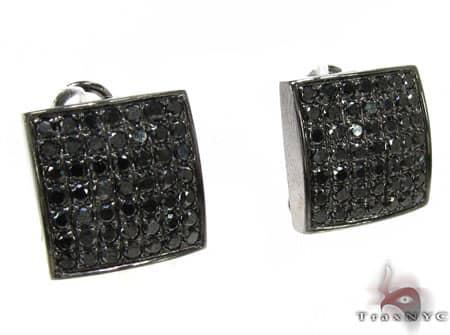 Johnny's Black Diamond Earrings 1 Stone