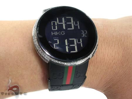 Fully Iced Digital Black Super Gucci Watch Gucci