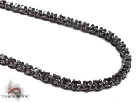 Black Gold Diamond Chain 30 Inches, 4mm, 43 Grams Diamond
