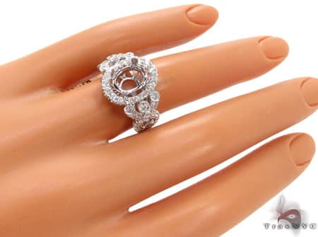 Big Bubble Semi Mount Ring Engagement