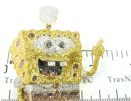 Custom Jewelry - Sponge Bob Pendant Metal