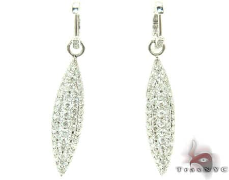 Prong Leaf Earrings  Stone
