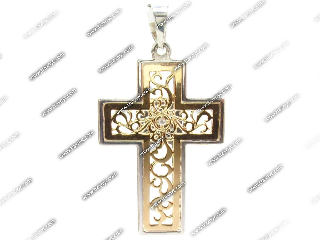 Amazon.com: Men's 14k Yellow Gold Solid Large Polished Cross with