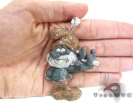 Large Papa Smurf Pendant Metal