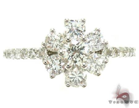 Sunflower Diamond Ring Engagement
