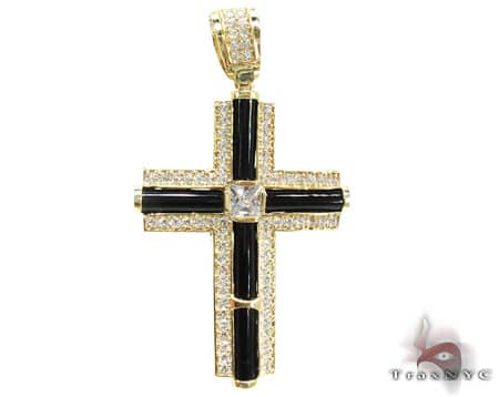 CZ and Gold Fury Cross Gold