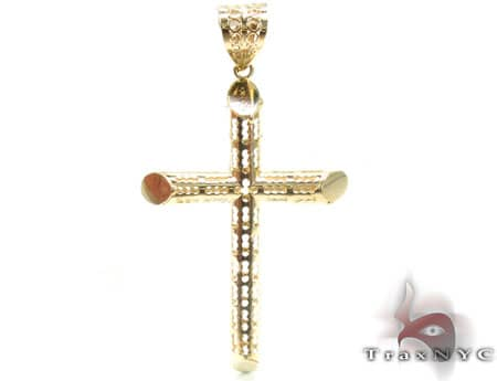 Slim Gold Cross 5 Gold