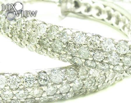 Parisian Diamond Hoops Stone