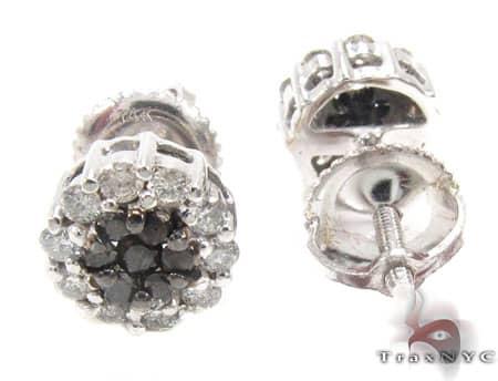 Zebra Cluster Earrings Stone