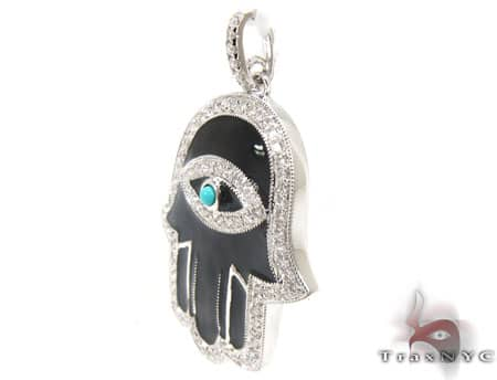 Black Hamsa Pendant Stone