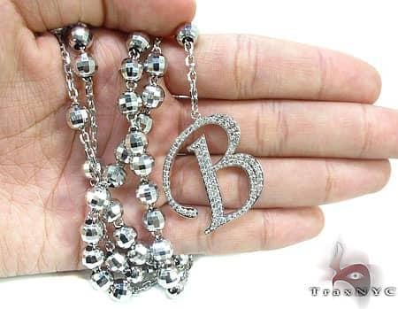 Custom B Initial Rosary Chain Rosary