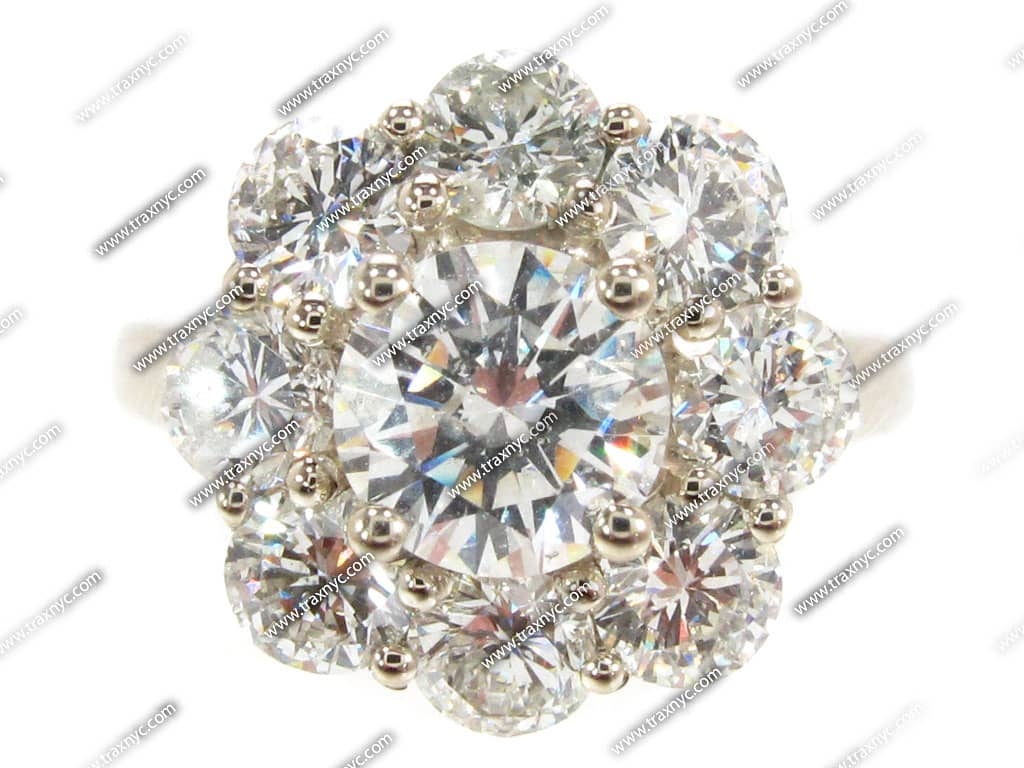 Diamond Flower Ring La s Holiday Deal White Gold 18k