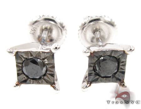 White Gold Kingdom Earrings Stone