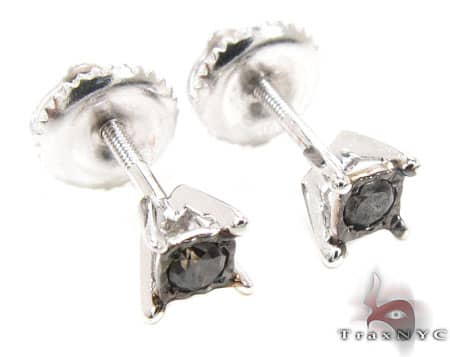 White Gold Kingdom Earrings 3 Stone