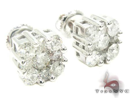 Flower Cluster Earrings Stone