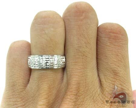 Mens Egyptian Design White Gold Wedding Ring Style
