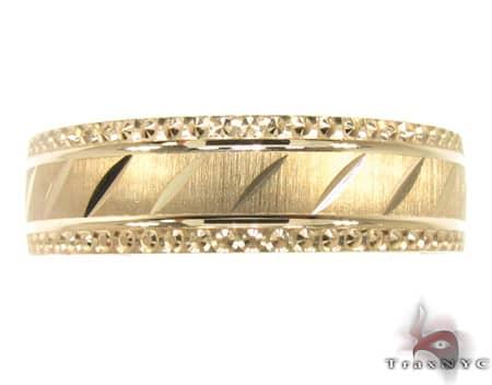 Brand Ring Mens Gold Wedding Band Yellow Gold 14k