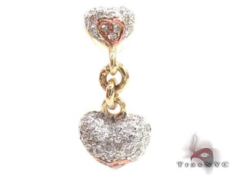 Dangle Heart Pendant Stone
