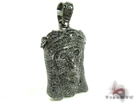 Urban Black Diamond Jesus Pendant Metal