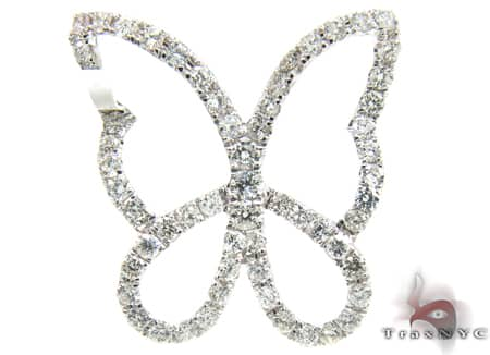 Diamond Butterfly Pendant Stone