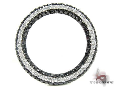 Black Diamond Lined Pendant Stone