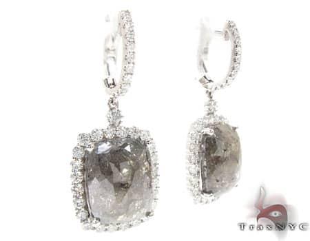 Light Brown Quartz Heiress Dangle Earrings Stone