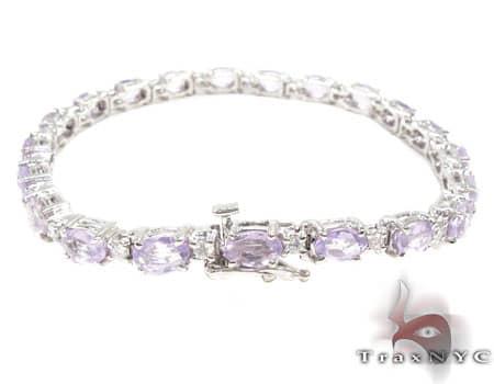 Erica's Amethyst & Diamond Bracelet Gemstone & Pearl