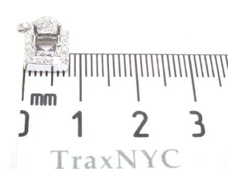 Diamond Square Semi Mount Pendant Stone