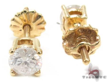 Yellow Gold Style Studs Stone