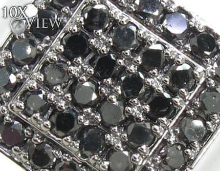 TraxNYC Light Black Diamond 10k White Gold Ring Stone