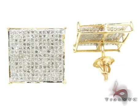 Yellow Gold Warrior Earrings 5 Stone
