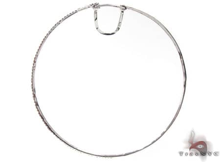 White Gold Big Prong Hoops Style