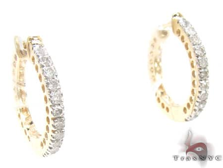 Yellow Gold San Diego Hoops Stone