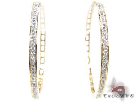 Yellow Gold Resort Hoops Stone
