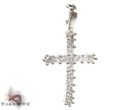 Clear CZ Cross Pendant Style