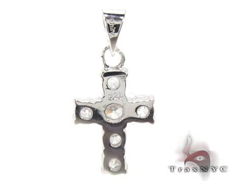 CZ Small Cross Pendant Style