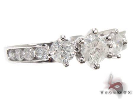 Rapunzel Ring Ladies Diamond Wedding Ring White Gold 14k