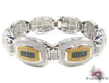 Tri Color Wolfman Bracelet Diamond