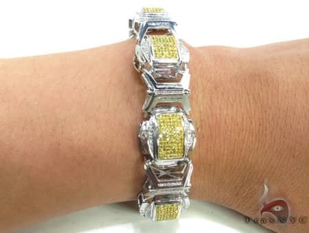 Canary and White Superior Bracelet Diamond