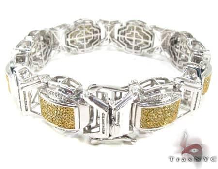 Canary and White Superior Bracelet Diamond