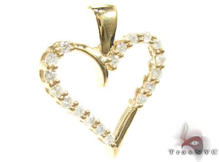 Golden Joy Heart Pendant Style